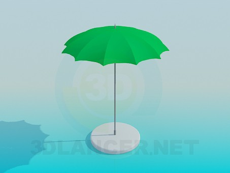 3d model A stationary sun umbrella - preview
