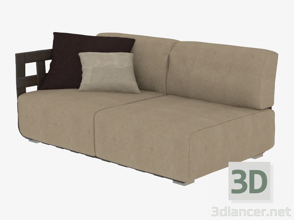 3d modell doppel sofa geflecht 182 vom hersteller rugiano day id 19336. Black Bedroom Furniture Sets. Home Design Ideas