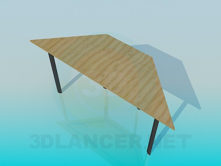3d model Trapezoidal side table - preview