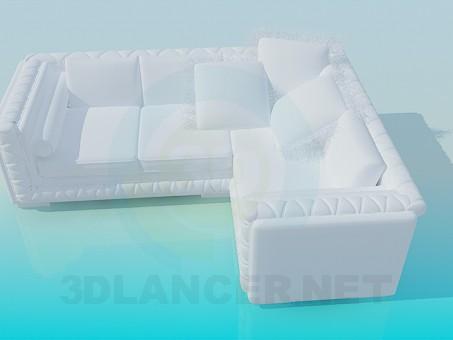 descarga gratuita de 3D modelado modelo Sofá de la esquina