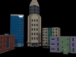Город низкополигональная