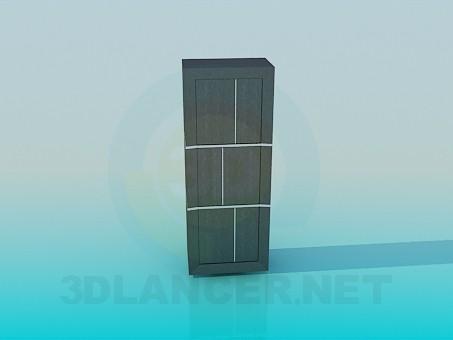 3d модель Шафа-пенал – превью