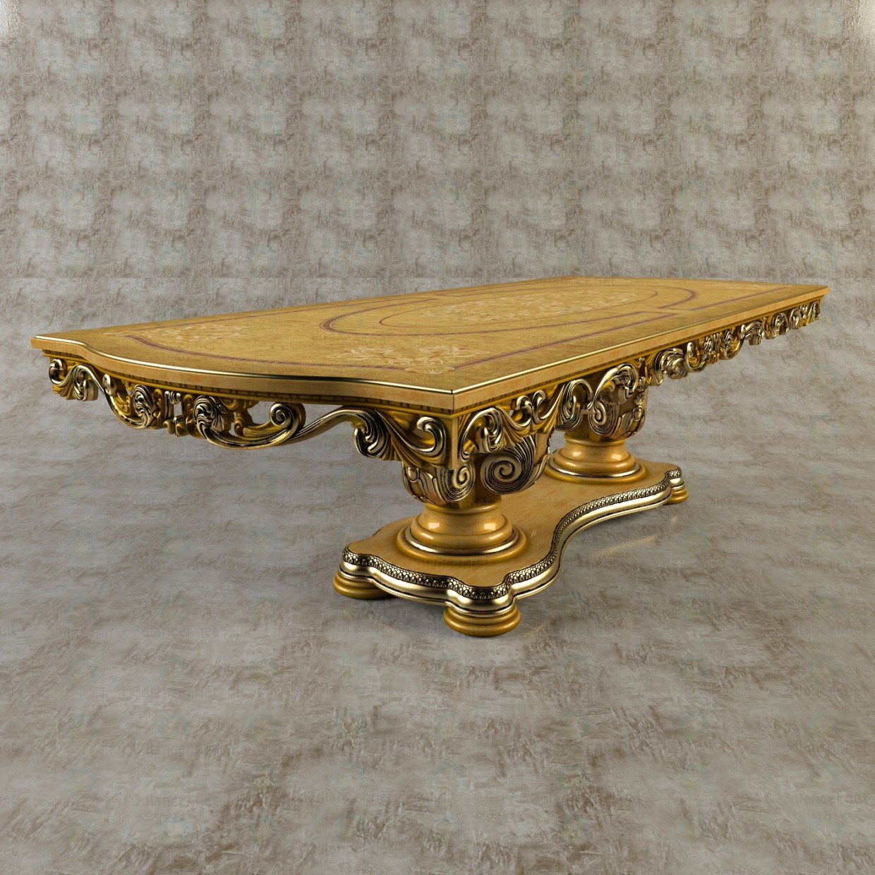 3d Dining table model buy - render