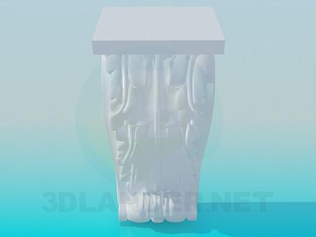 3d model Elemento de la cornisa - vista previa