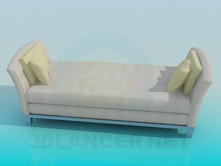 descarga gratuita de 3D modelado modelo Cama individual