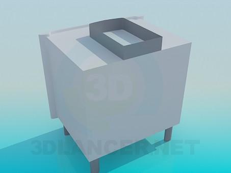 modelo 3D Armario bajo fregadero - escuchar