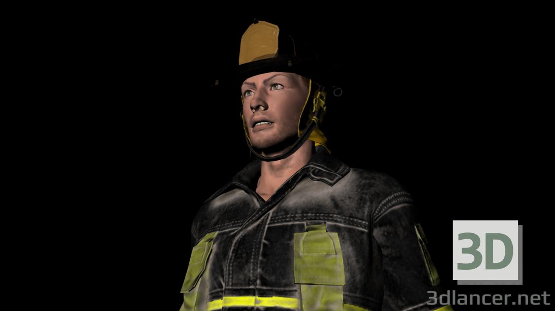 3d fireman benni model buy - render