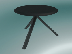 Tavolo MIURA (9553-51 (Ø 60cm), H 50cm, nero, nero)