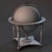3d Vintage world globe on wooden stand pbr Low-poly 3D model model buy - render