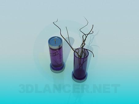 3d model Candlestick vase set - preview