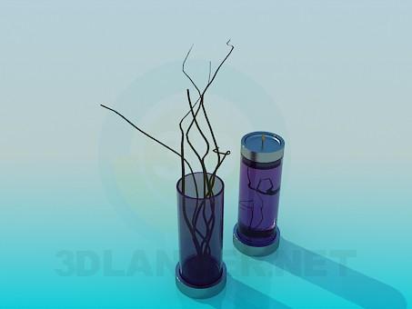 modelo 3D Candelabro vaso set - escuchar