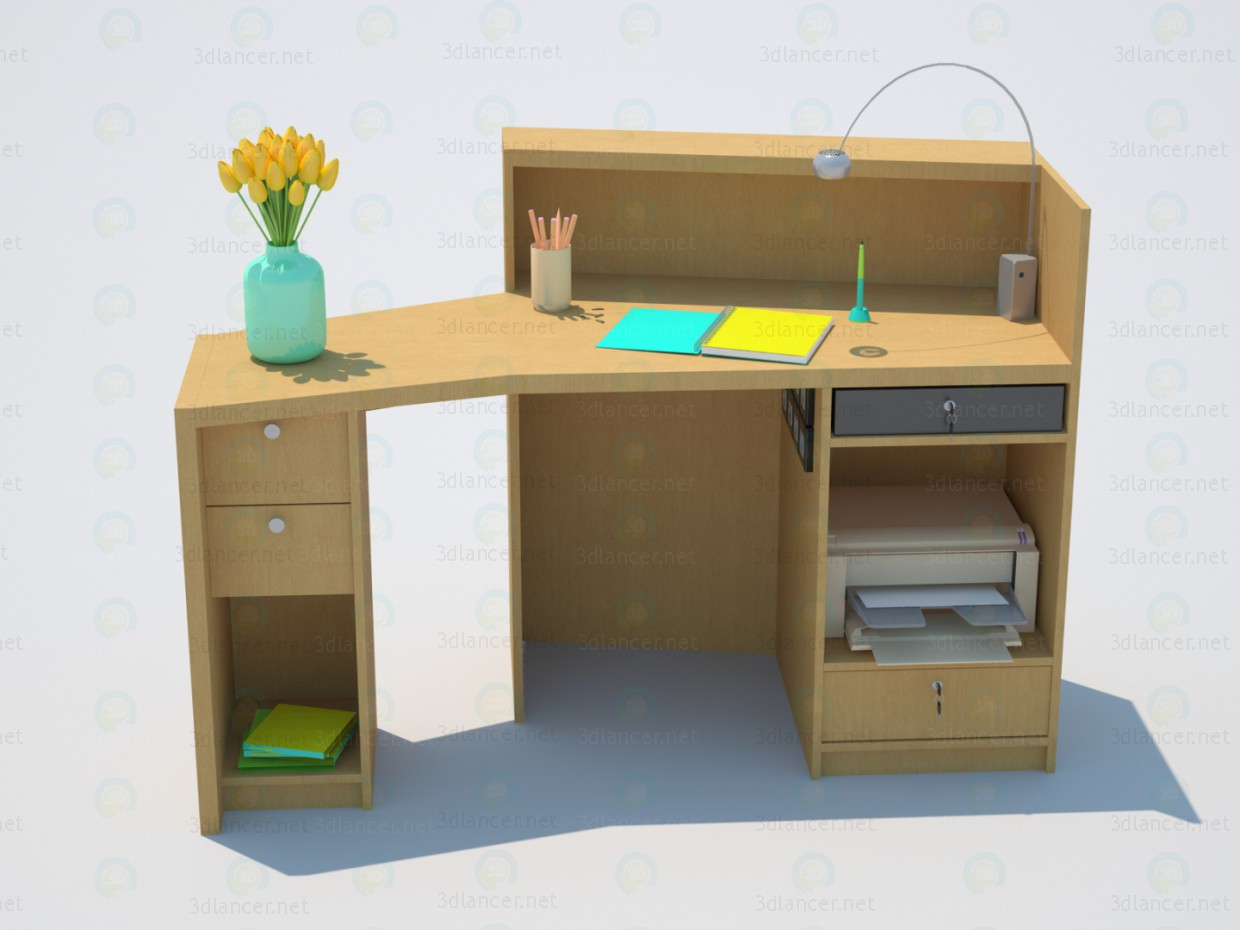 3d model Office desk - preview