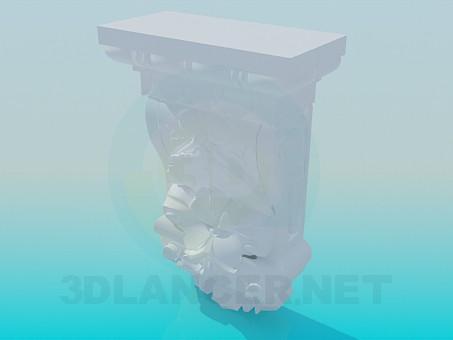 modelo 3D Elemento de la cornisa - escuchar