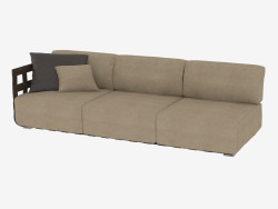 Triple sofa without sidewall Braid (272)