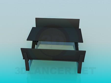 modelo 3D Mesa y Banco - escuchar