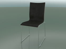 Chair with high back on a sled, with leather interior upholstery (108)