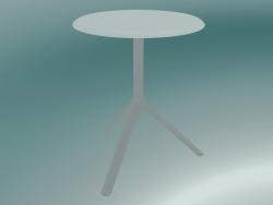 Tavolo MIURA (9553-01 (Ø 60cm), H 73cm, bianco, bianco)