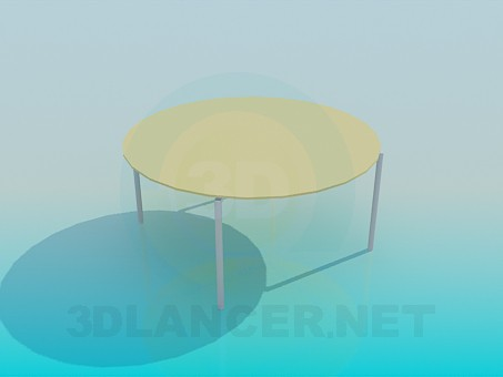 3d modeling Round table model free download