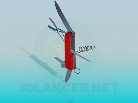 modelo 3D Navaja de bolsillo - escuchar