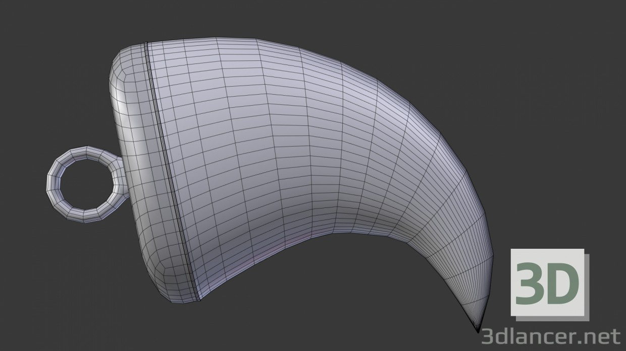 3d model Claw pendant - preview