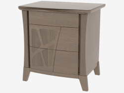 Bedside table with 3 drawers on CDMONC legs