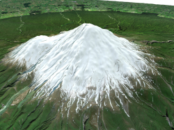Mount Taranaki / mount Egmont 3D model / 3D model of Mount Taranaki, New Zealand