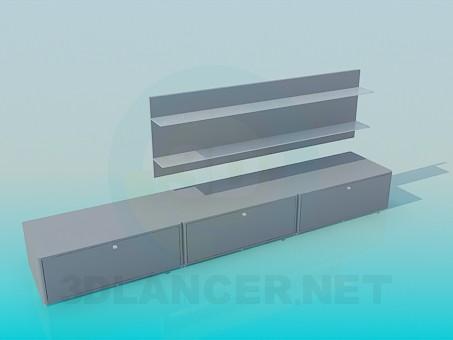 3d modeling Long floor and shelf over her bundled model free download