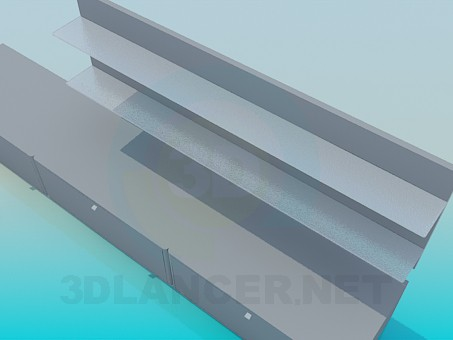 modelo 3D Incluye piso larga y útil sobre ella - escuchar