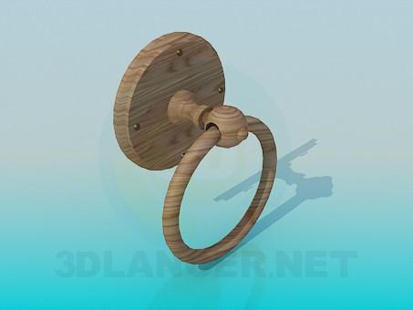 3d модель Дверная ручка-кольцо – превью
