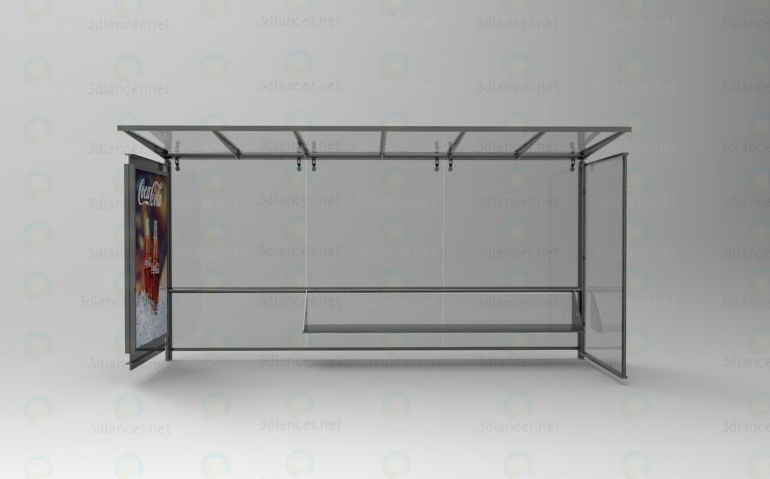 Автобусна зупинка 3d модель купити - рендер