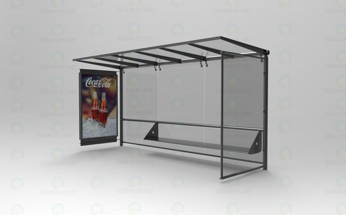 La estación de autobuses 3D modelo Compro - render