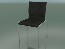 Chair with four legs and extra width, with leather upholstery (121)