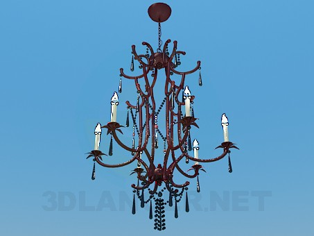 3d model High chandelier with candelabrums - preview