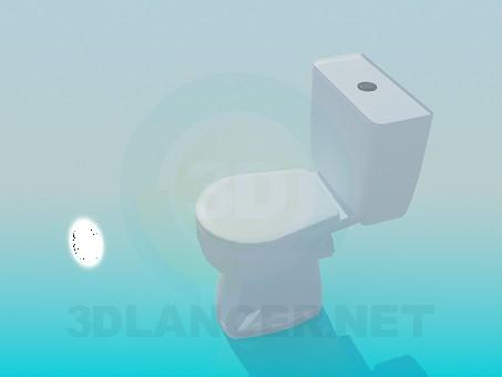 3D Modell WC-Schüssel - Vorschau