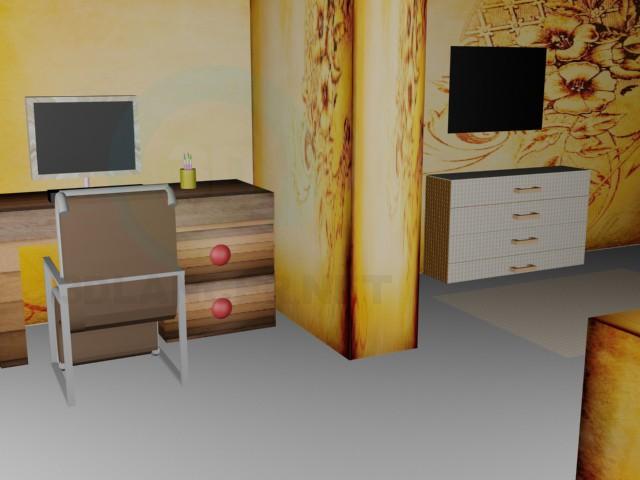 3d model Bedroom - preview