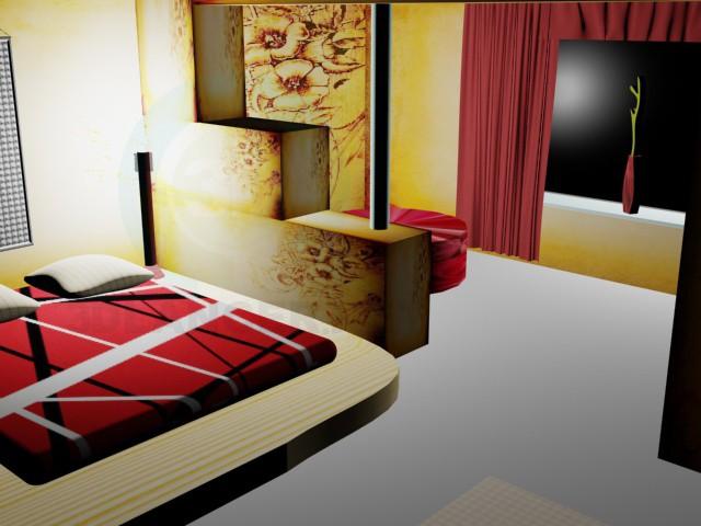 3d modeling Bedroom model free download
