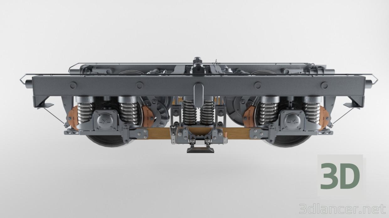 3d truck subway model buy - render