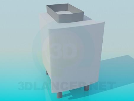 3D Modell Schrank unter Waschbecken - Vorschau