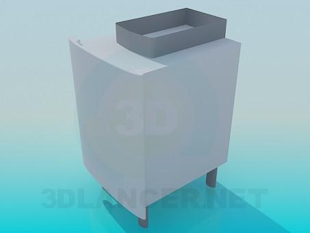 3d модель Тумба под умывальник – превью