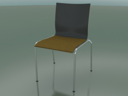 Chair with four legs and extra width, with fabric upholstery (121)