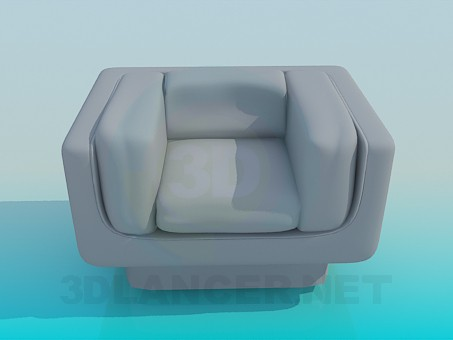 3d modeling Square Chair model free download