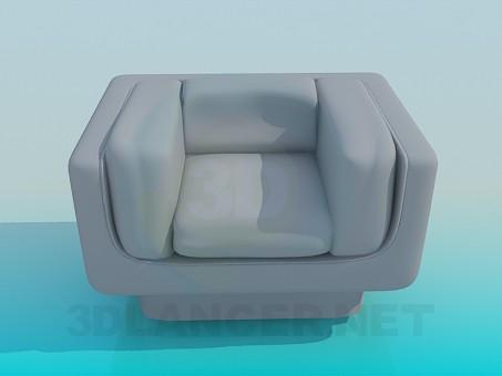 3d модель Квадратное кресло – превью