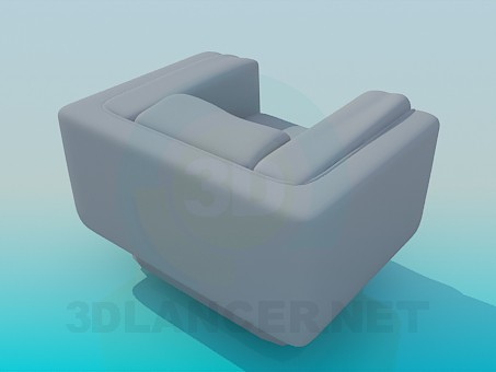 modelo 3D Silla cuadrada - escuchar
