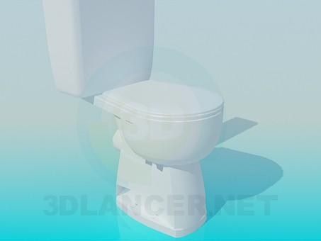 modelo 3D Taza del inodoro - escuchar
