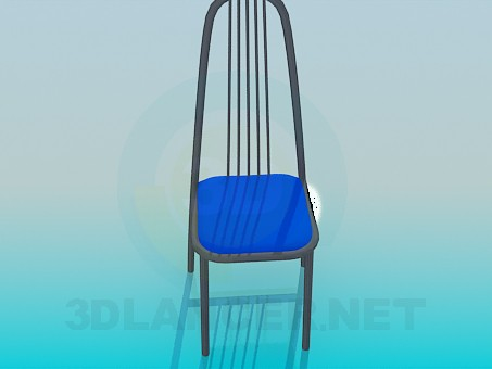 3d модель Стул с прутиками на спинке – превью