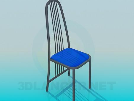 3d модель Стілець з прутиками на спинці – превью