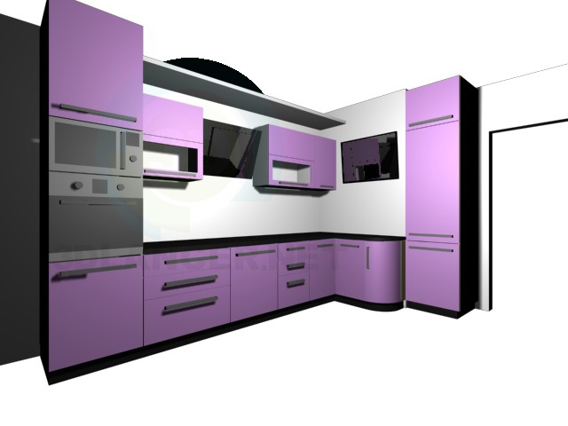 3d model Kitchen and options - preview