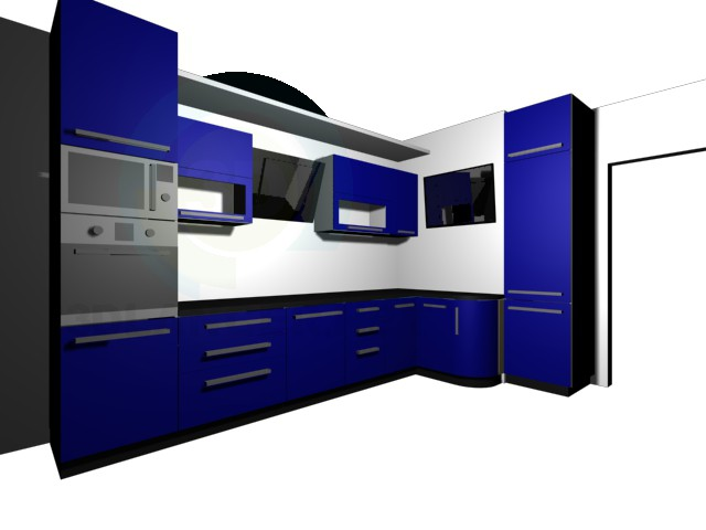 3d modeling Kitchen and options model free download