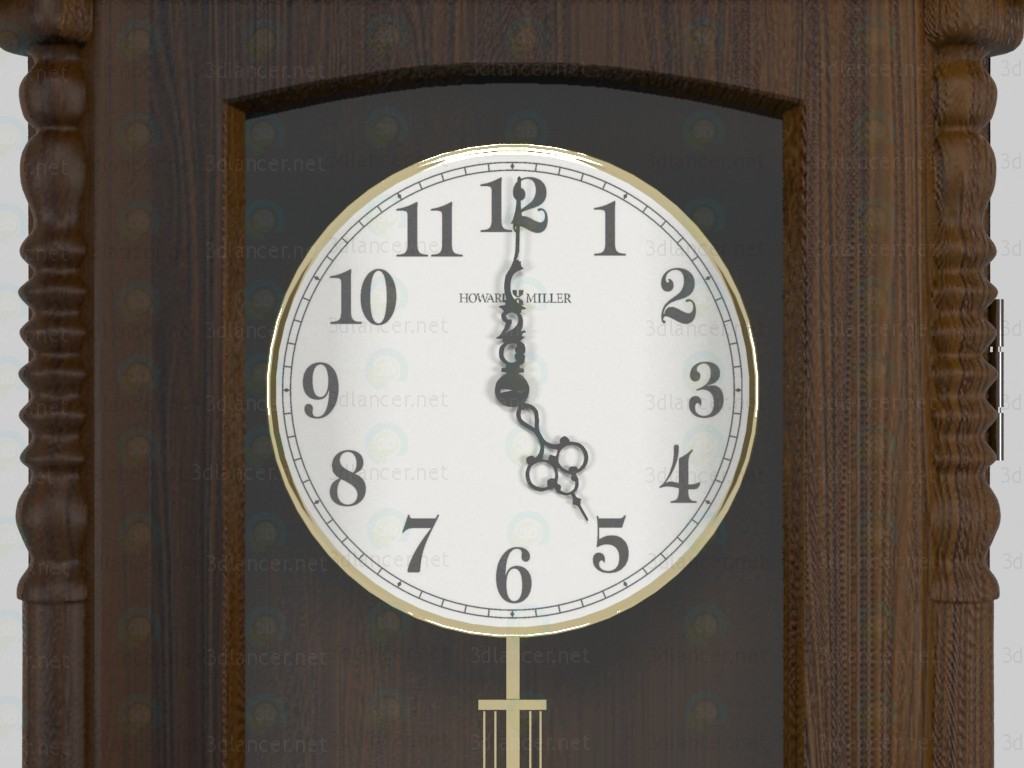 3d Wall clock HOWARD MILLER model buy - render