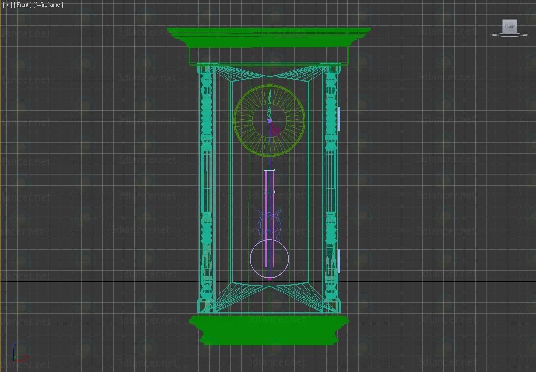 3d Wall clock HOWARD MILLER model buy - render